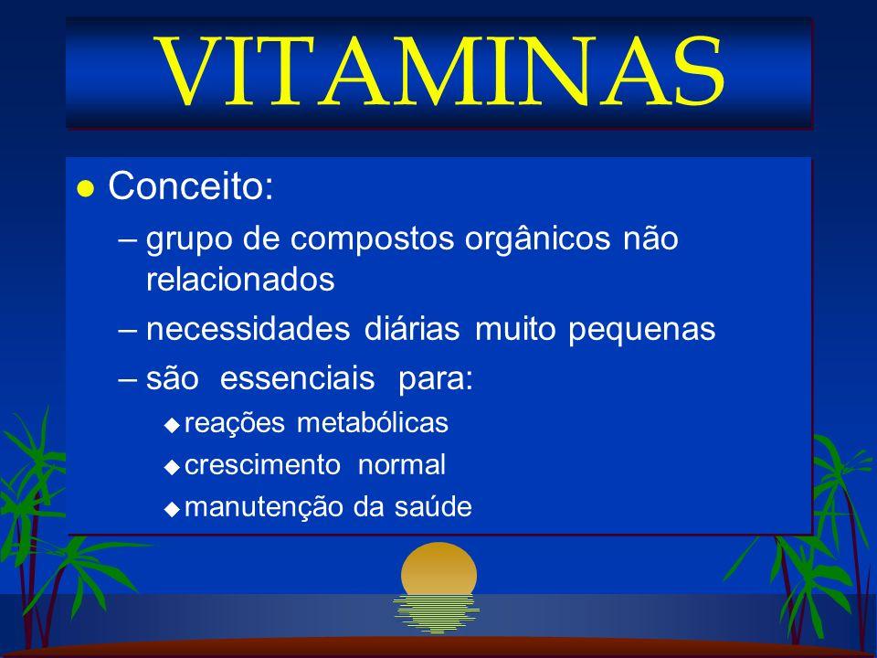 l Ácido pantotênico na dieta humana: –vegetais e produtos de origem animal –pequena quantidade pode ser sintetizada l Necessidades: –5 a 10 mg/dia (todas as idades) l Funções: –é parte da molécula da coenzima A (CoA) u descarboxilação do piruvato u degradação dos ácidos graxos l Ácido pantotênico na dieta humana: –vegetais e produtos de origem animal –pequena quantidade pode ser sintetizada l Necessidades: –5 a 10 mg/dia (todas as idades) l Funções: –é parte da molécula da coenzima A (CoA) u descarboxilação do piruvato u degradação dos ácidos graxos ÁCIDO PANTOTÊNICO