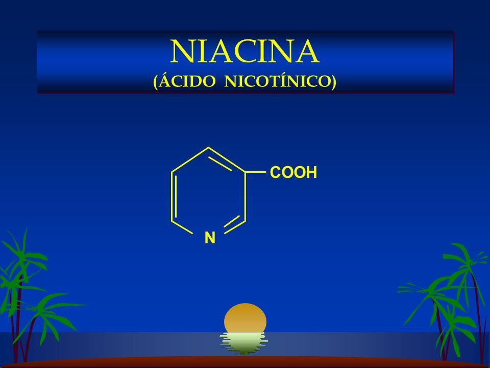 COOH N NIACINA (ÁCIDO NICOTÍNICO)