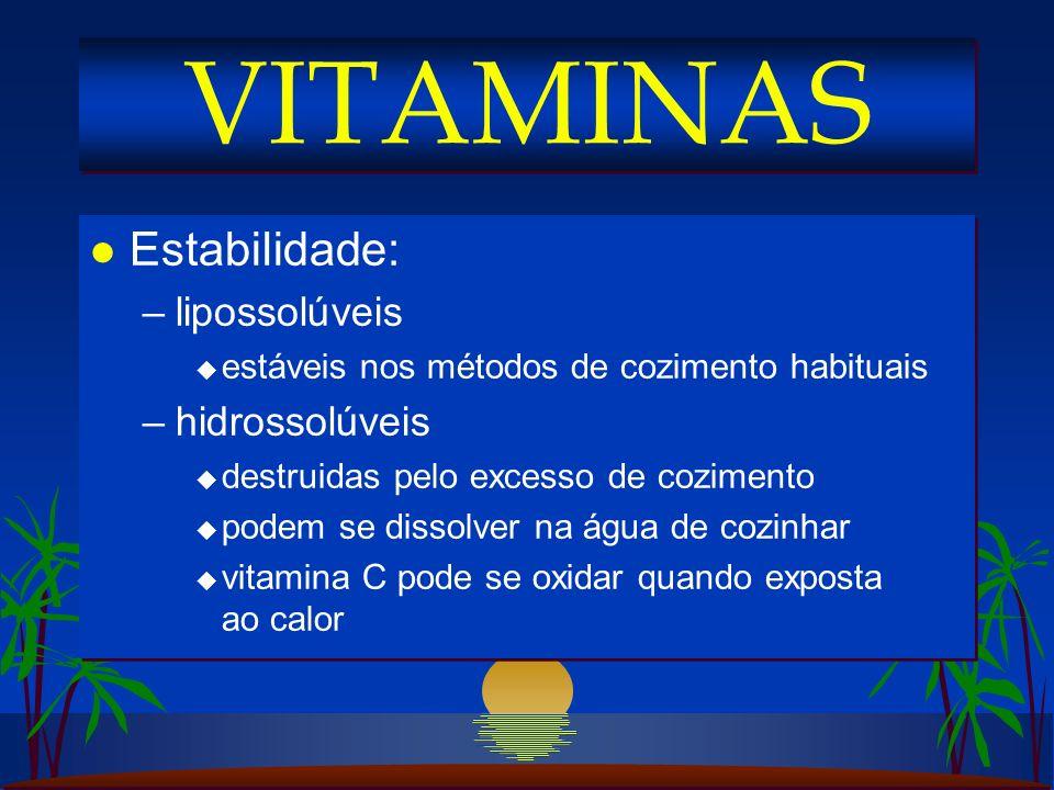 l Vitamina B 2 na dieta humana: –leite, queijos, carnes, ovos, folhas verdes l Necessidades: –0,6 mg por 1000 cal/dia (todas as idades) –gestação + 3 mg lactação + 5 mg l Funções: –forma as coenzimas FAD e FMN u catalizam as reações de oxi-redução u transporte de H 2 no sistema mitocondrial l Vitamina B 2 na dieta humana: –leite, queijos, carnes, ovos, folhas verdes l Necessidades: –0,6 mg por 1000 cal/dia (todas as idades) –gestação + 3 mg lactação + 5 mg l Funções: –forma as coenzimas FAD e FMN u catalizam as reações de oxi-redução u transporte de H 2 no sistema mitocondrial VITAMINA B 2 (RIBOFLAVINA)