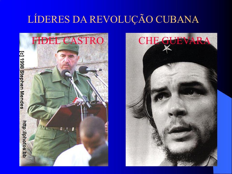 LÍDERES DA REVOLUÇÃO CUBANA FIDEL CASTRO CHE GUEVARA