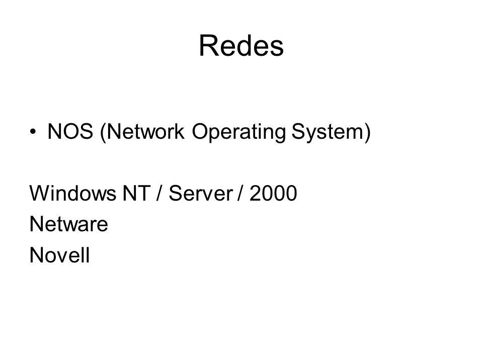 Redes Servidor É o computador onde estão armazenados os recursos que poderão ser compartilhados, que possui um poder de processamento superior as das Estações de Trabalho.