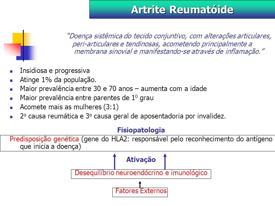 Doença sistêmica do tecido conjuntivo, com alterações articulares, peri-articulares e tendinosas, acometendo principalmente a membrana sinovial e manifestando-se através de inflamação.
