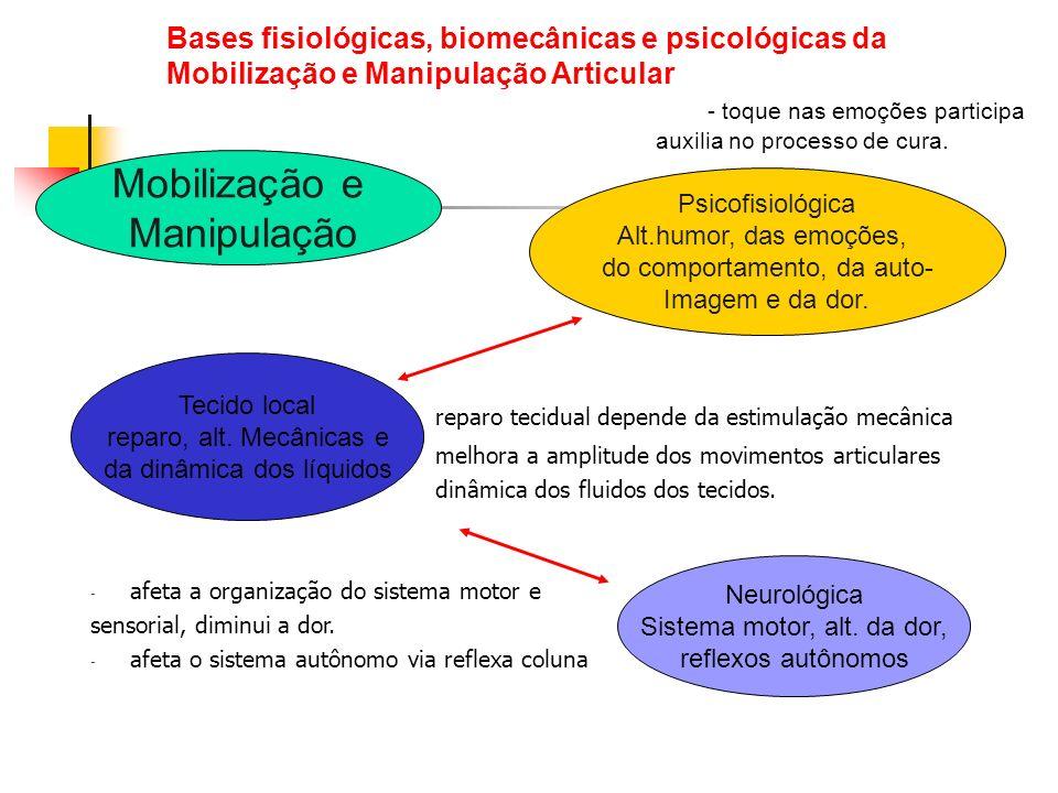 Bases fisiológicas, biomecânicas e psicológicas da Mobilização e Manipulação Articular - toque nas emoções participa auxilia no processo de cura.