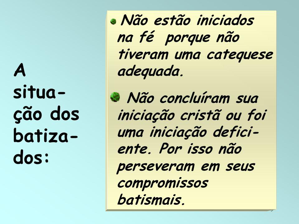 40 Três Graus do Catecumenato restaurado: a) Postulantes com Instrução elementar = Evangelização, Kerygma.
