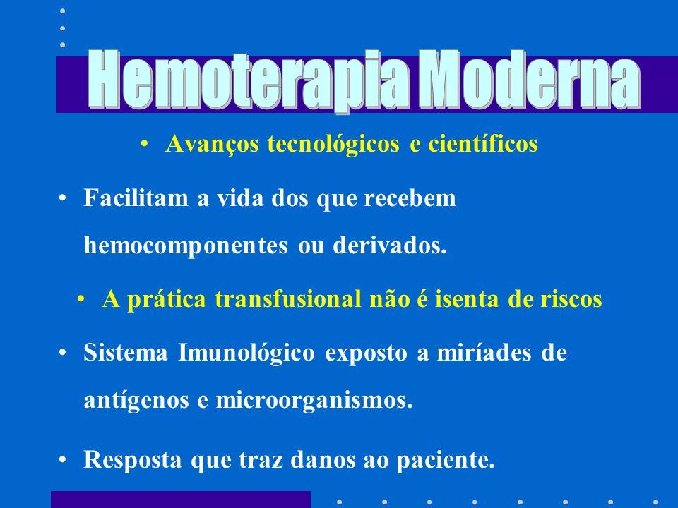 O uso racional dos hemocomponentes e hemoderivados deve ser a nossa meta e prática diária.