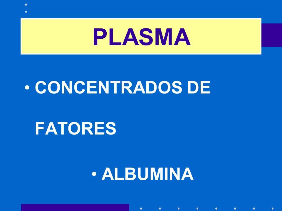 CONCENTRADOS DE FATORES ALBUMINA GLOBULINAS PLASMA