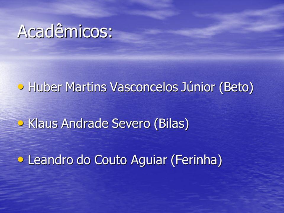 Acadêmicos: Huber Martins Vasconcelos Júnior (Beto) Huber Martins Vasconcelos Júnior (Beto) Klaus Andrade Severo (Bilas) Klaus Andrade Severo (Bilas)