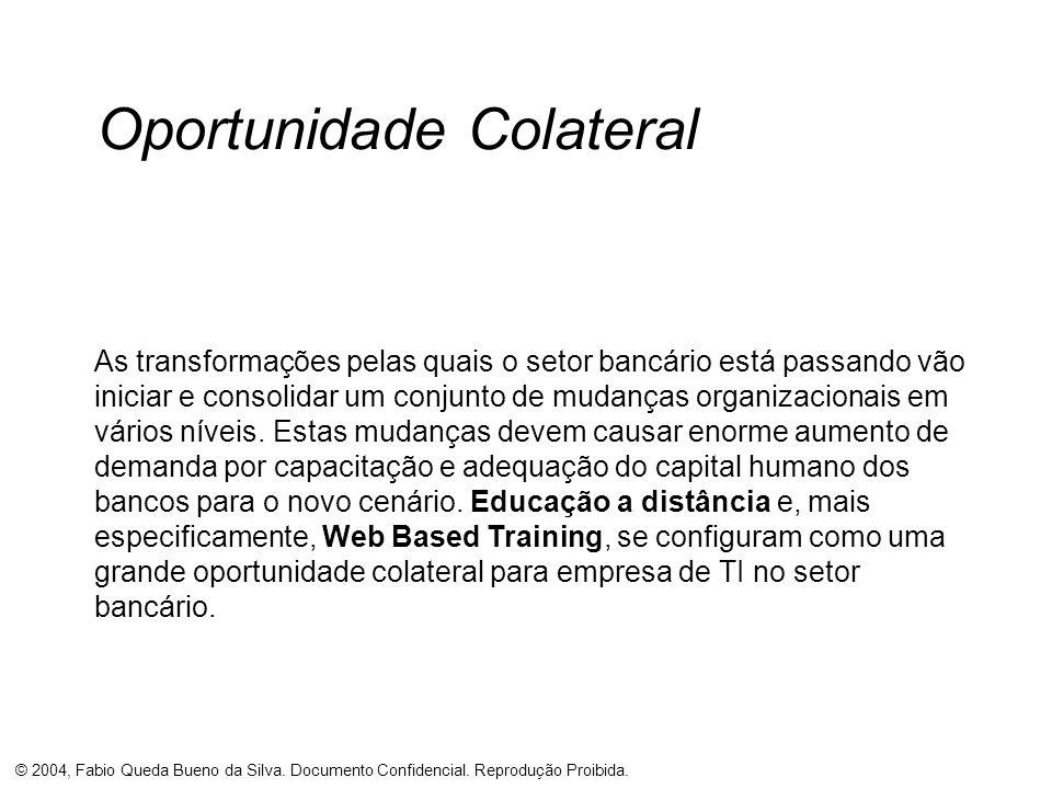 © 2004, Fabio Queda Bueno da Silva. Documento Confidencial. Reprodução Proibida. Oportunidade Colateral As transformações pelas quais o setor bancário