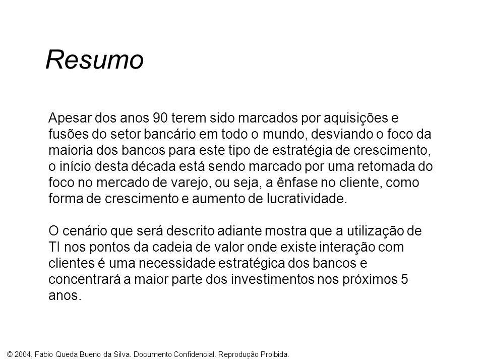 © 2004, Fabio Queda Bueno da Silva. Documento Confidencial. Reprodução Proibida. Resumo Apesar dos anos 90 terem sido marcados por aquisições e fusões