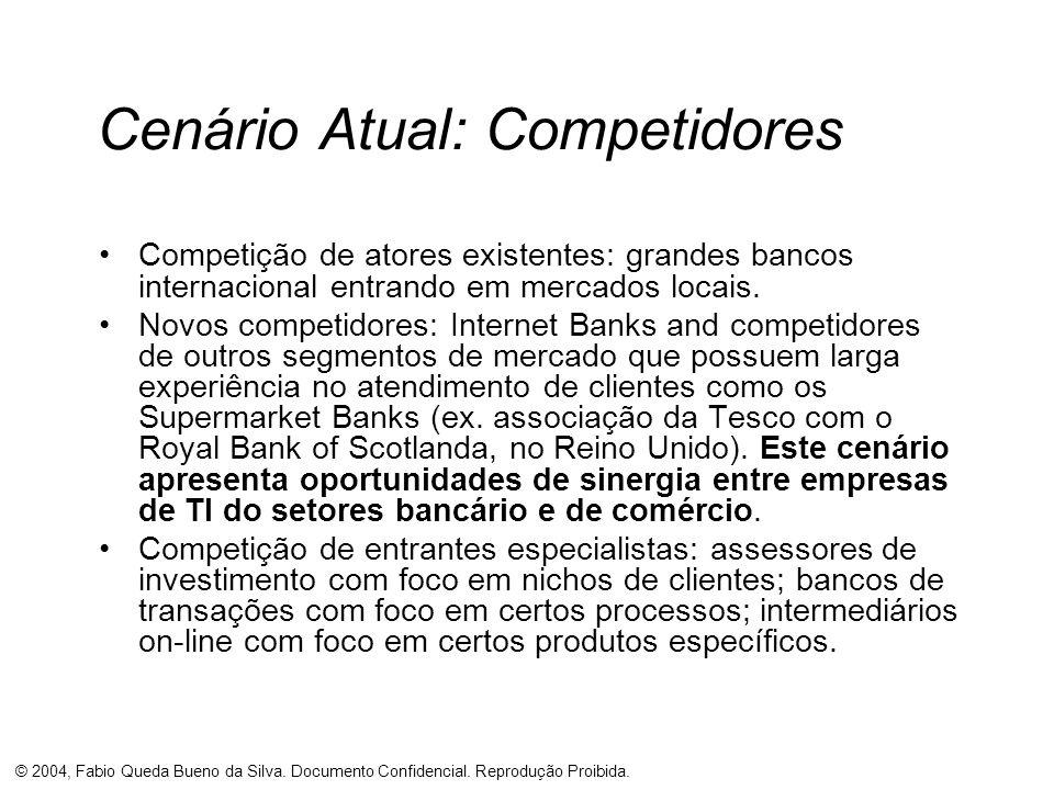 © 2004, Fabio Queda Bueno da Silva. Documento Confidencial. Reprodução Proibida. Cenário Atual: Competidores Competição de atores existentes: grandes