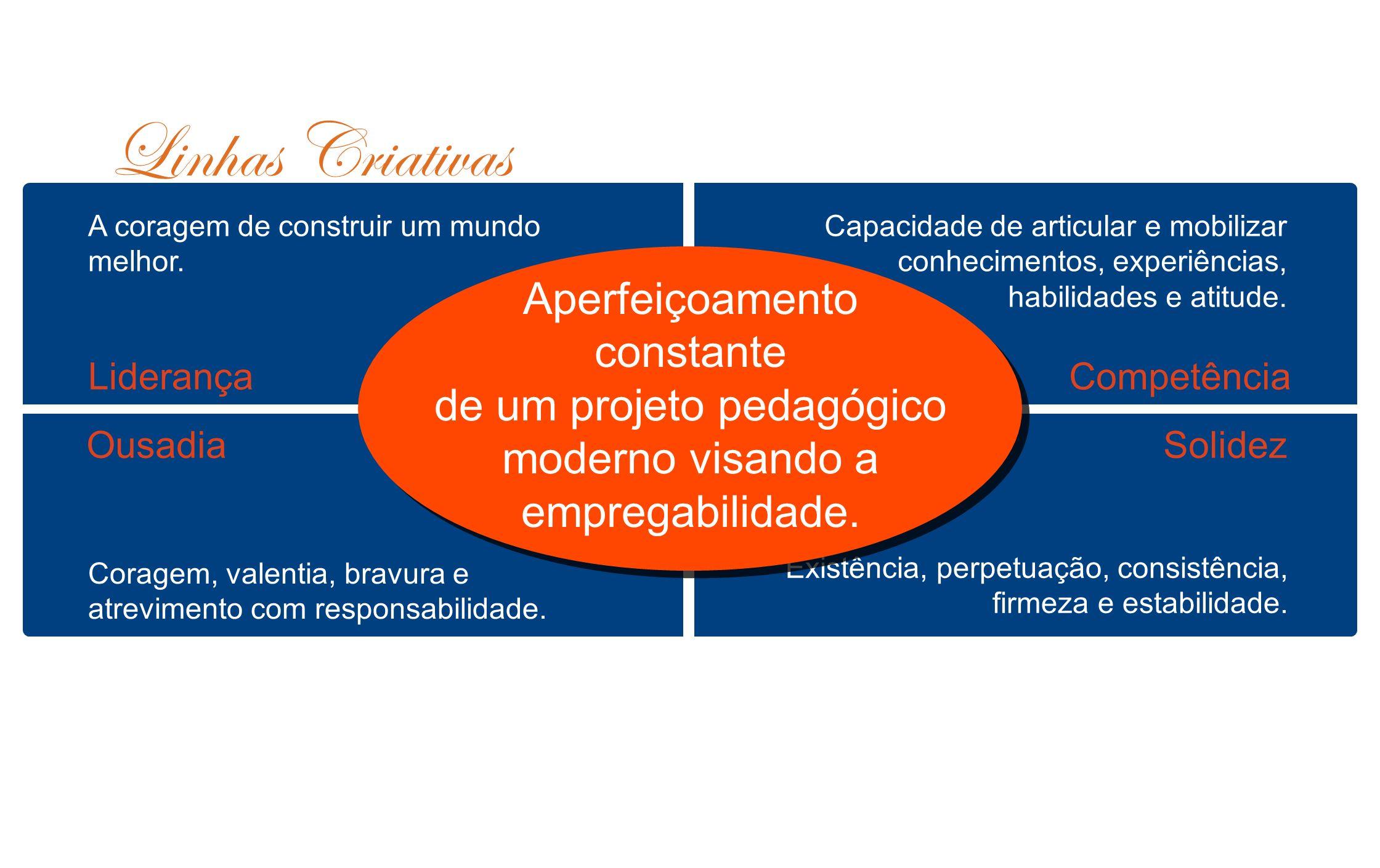 1.Liderança 2. Competência 3. Solidez/ Ousadia 4.