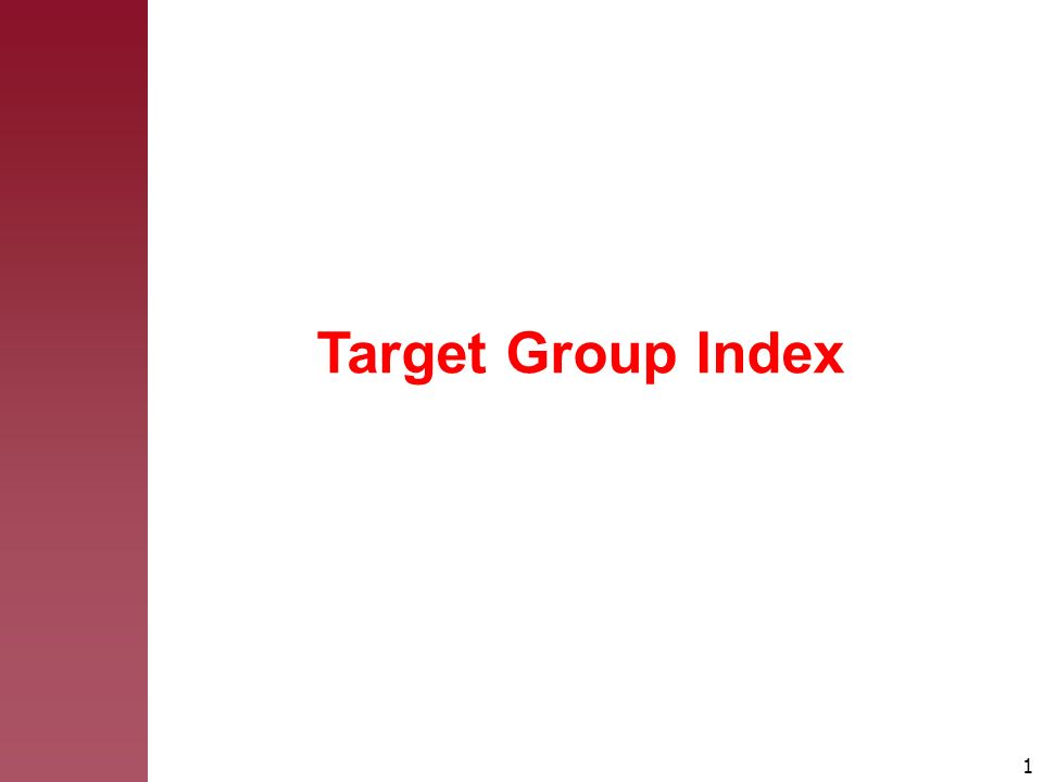 1 Target Group Index