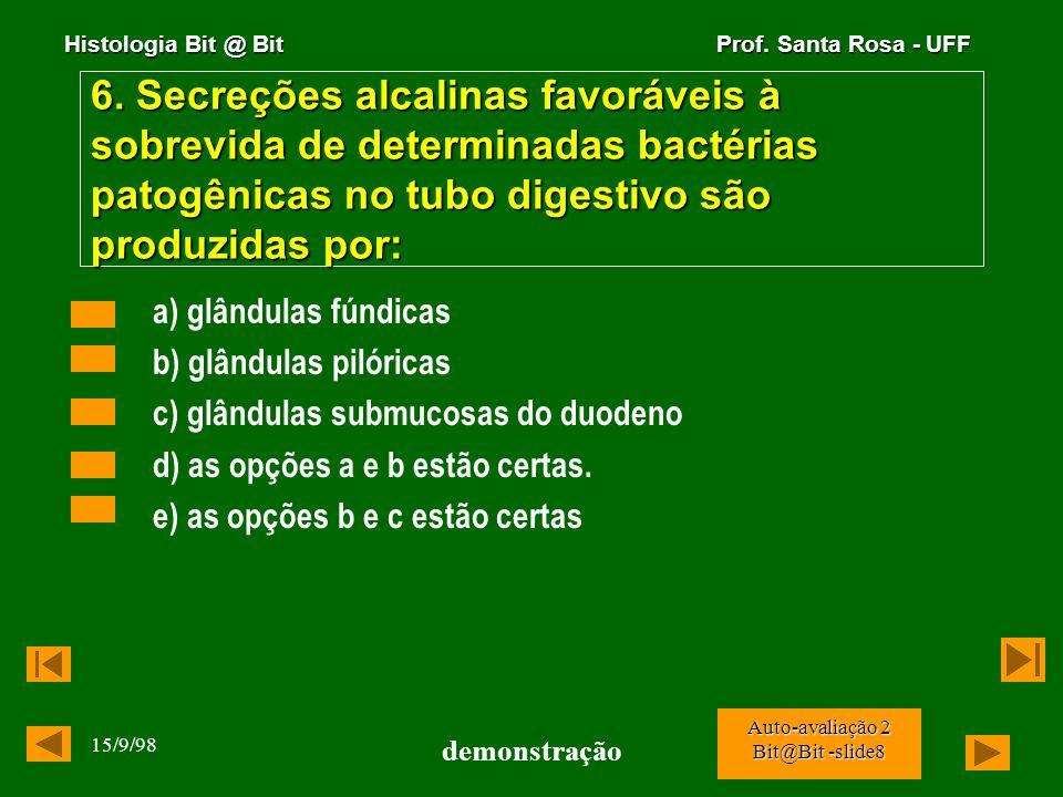 Histologia Bit @ Bit Prof. Santa Rosa - UFF 15/9/98 demonstração Auto-avaliação 2 Bit@Bit -slide7 5. Os macrófagos livres das cavidades celomáticas e