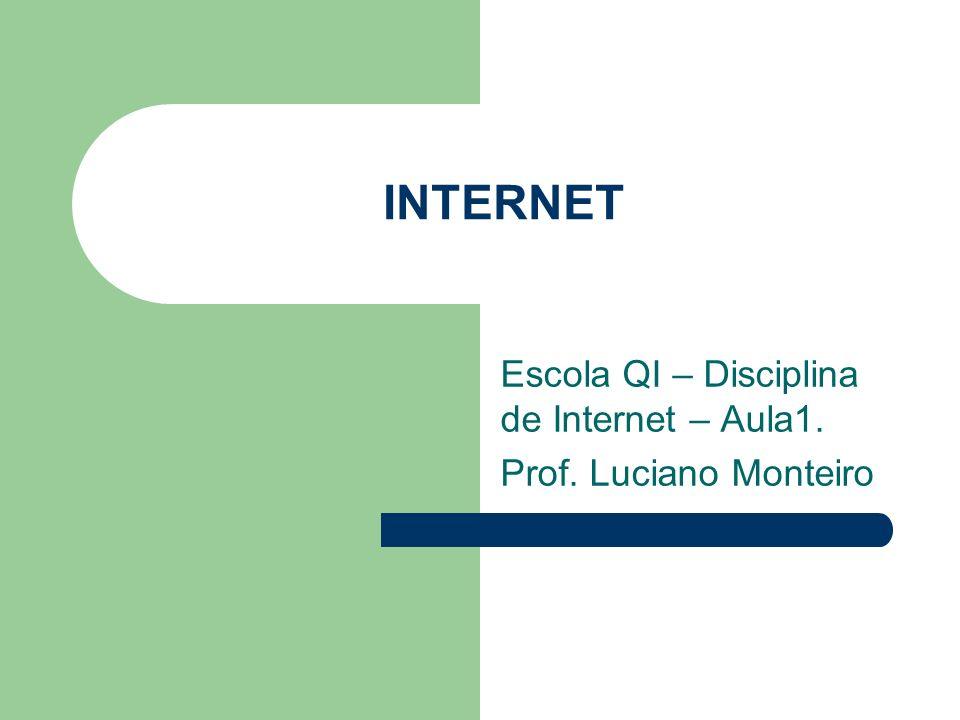Definição A Internet é um grande conjunto de redes de computadores interligadas pelo mundo inteiro.
