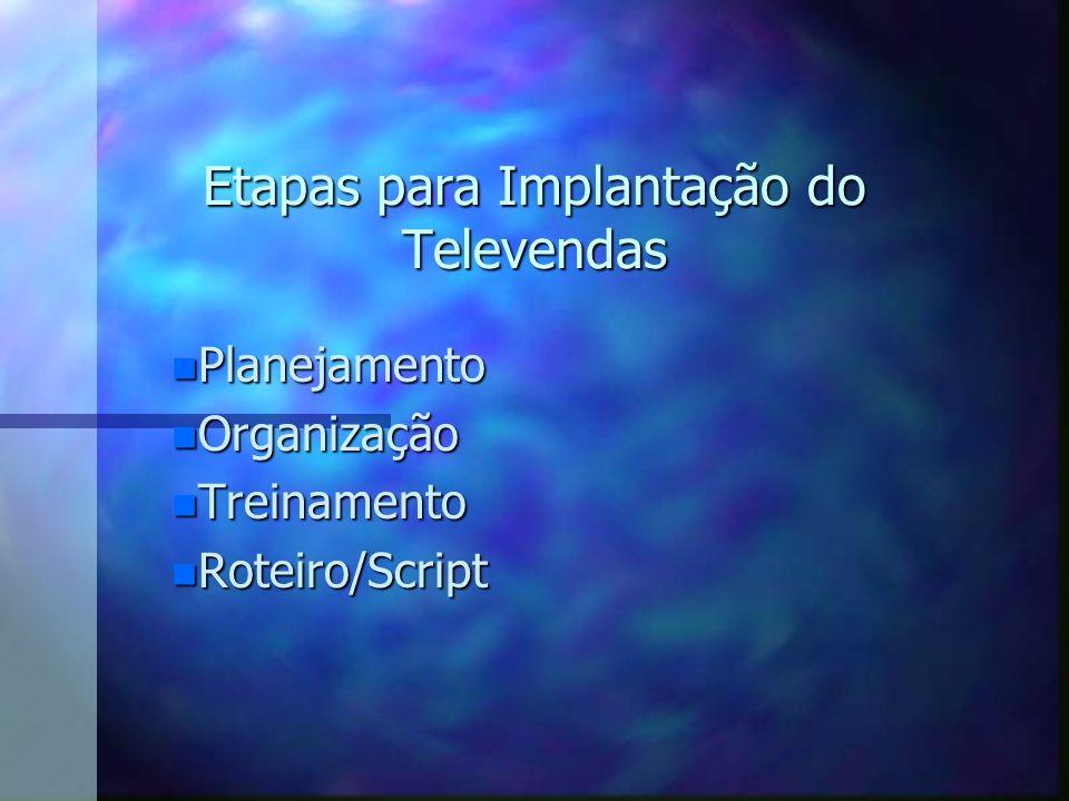 PLANEJAMENTO n O telemarketing não pode ser um elemento singular ou isolado dos demais processos da empresa.