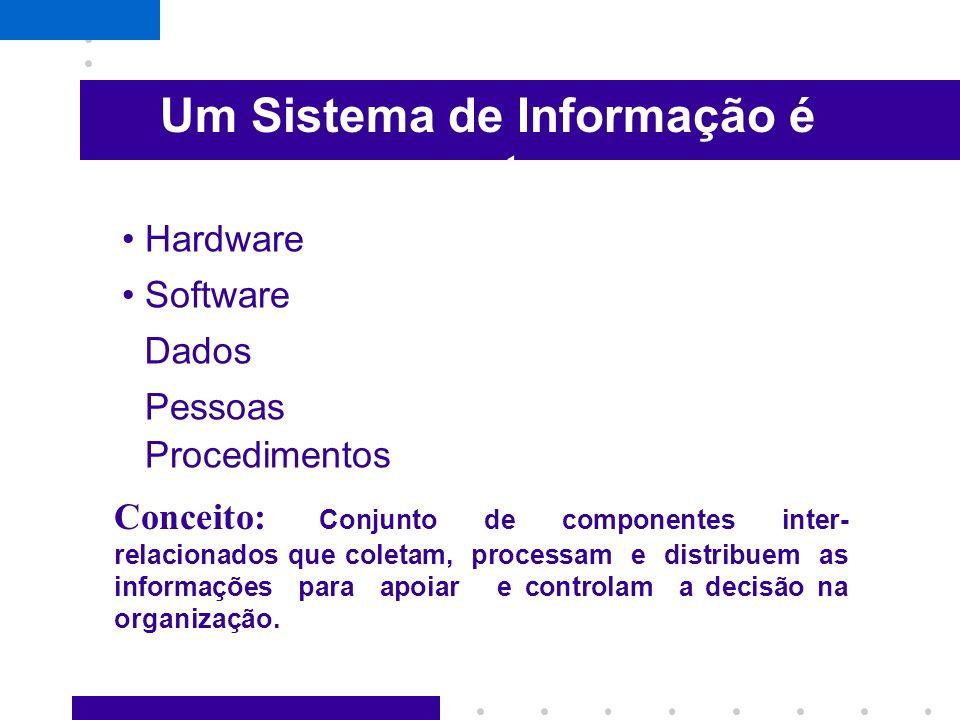 Sistemas de Informação Com o avanço da tecnologia da informação, os recursos de hardware e software passaram a ser um importante componente dos chamad