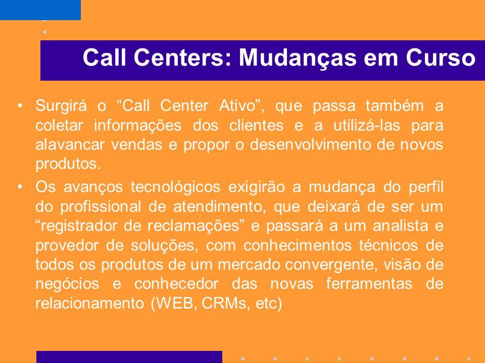 Call Center Hoje, o Call Center da maioria das empresas não passa de um atendedor de reclamações. A produtividade de um operador de Call Center é medi