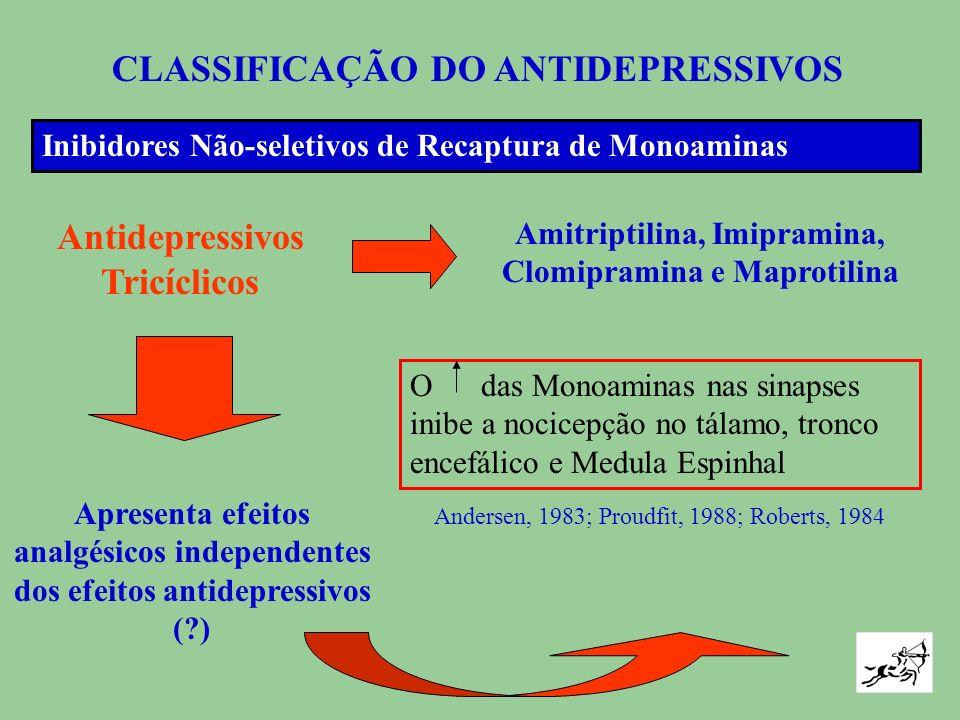 MECANISMOS DE AÇÃO CICLO VICIOSO DOR DEPRESSÃO Da Noradrenalina Da Serotonina Da Dopamina Falha no sistema analg é sico inibidor descendente