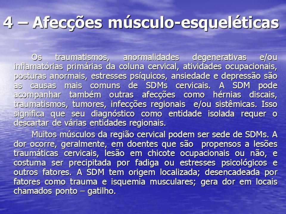 Músculo Trapézio Músculo Trapézio Manuseio ou transporte de objetos pesados em um ombro.