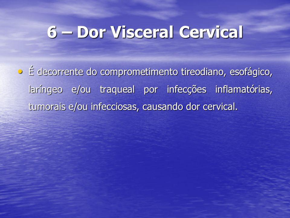 7 - Conclusão Várias são as causas da cervicalgia.