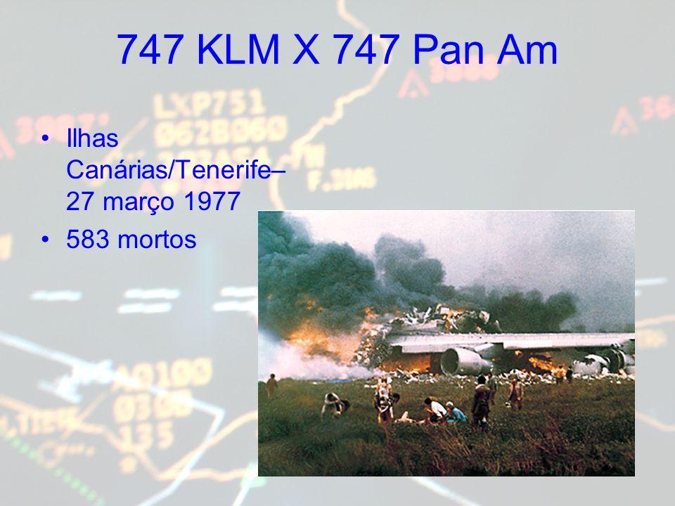 747 KLM X 747 Pan Am Ilhas Canárias/Tenerife– 27 março 1977 583 mortos