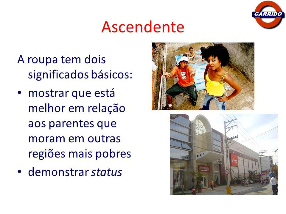 Ascendente A roupa tem dois significados básicos: mostrar que está melhor em relação aos parentes que moram em outras regiões mais pobres demonstrar s