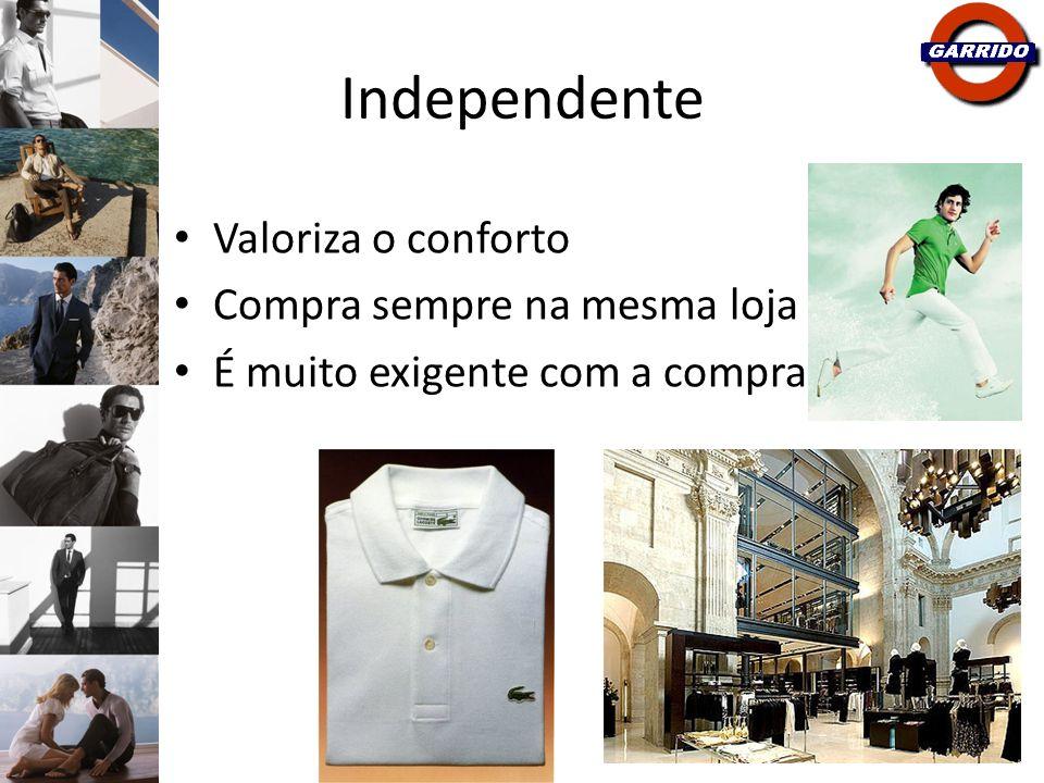 Independente Valoriza o conforto Compra sempre na mesma loja É muito exigente com a compra