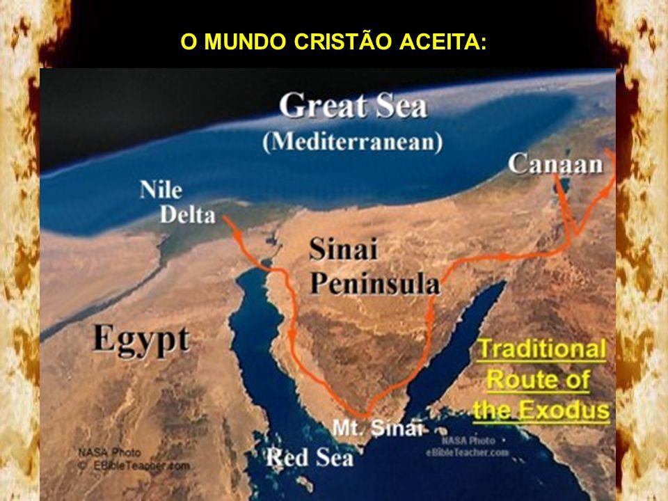Teoria Tradicional - normalmente aceita por católicos, judeus e evangélicos. Com algumas variações com relação ao lugar exato da travessia do Mar Verm