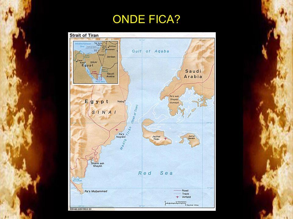 A foto abaixo mostra o local. Moisés foi claro em relatar o que viu: um vento oriental penetrou no mar formando