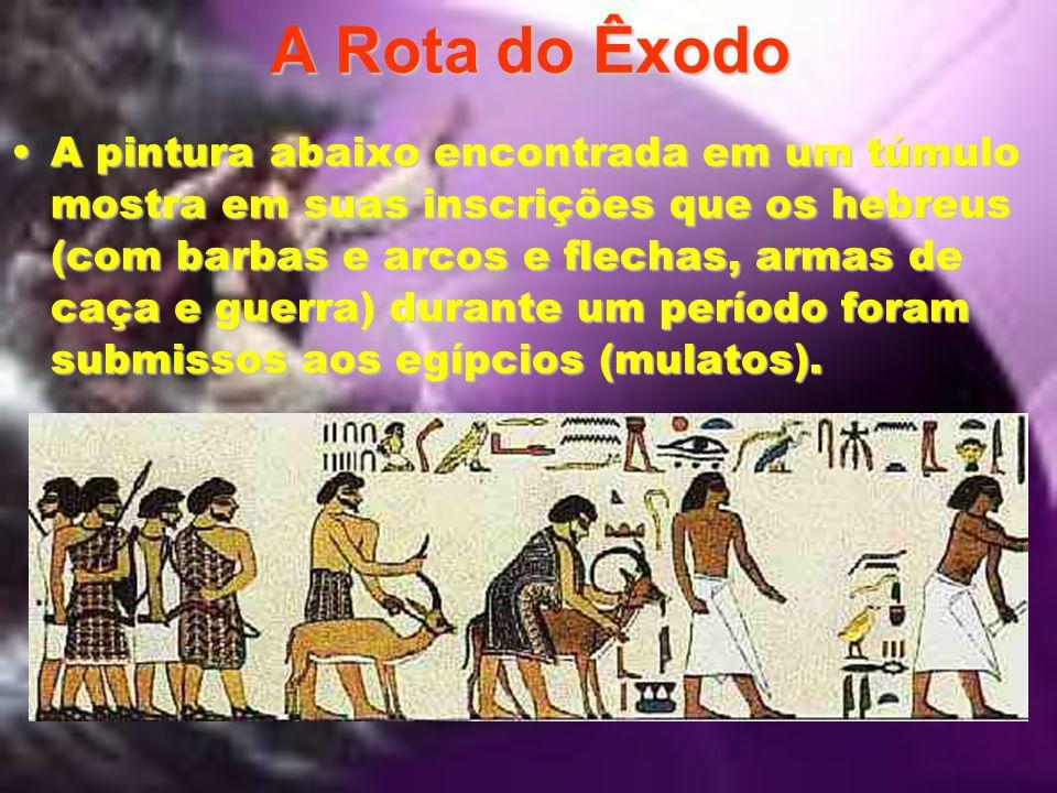 A Rota do Êxodo A arqueologia tem sido a maior amiga dos historiadores e estudiosos bíblicos na procura de locais e objetos que possam evidenciar o tr