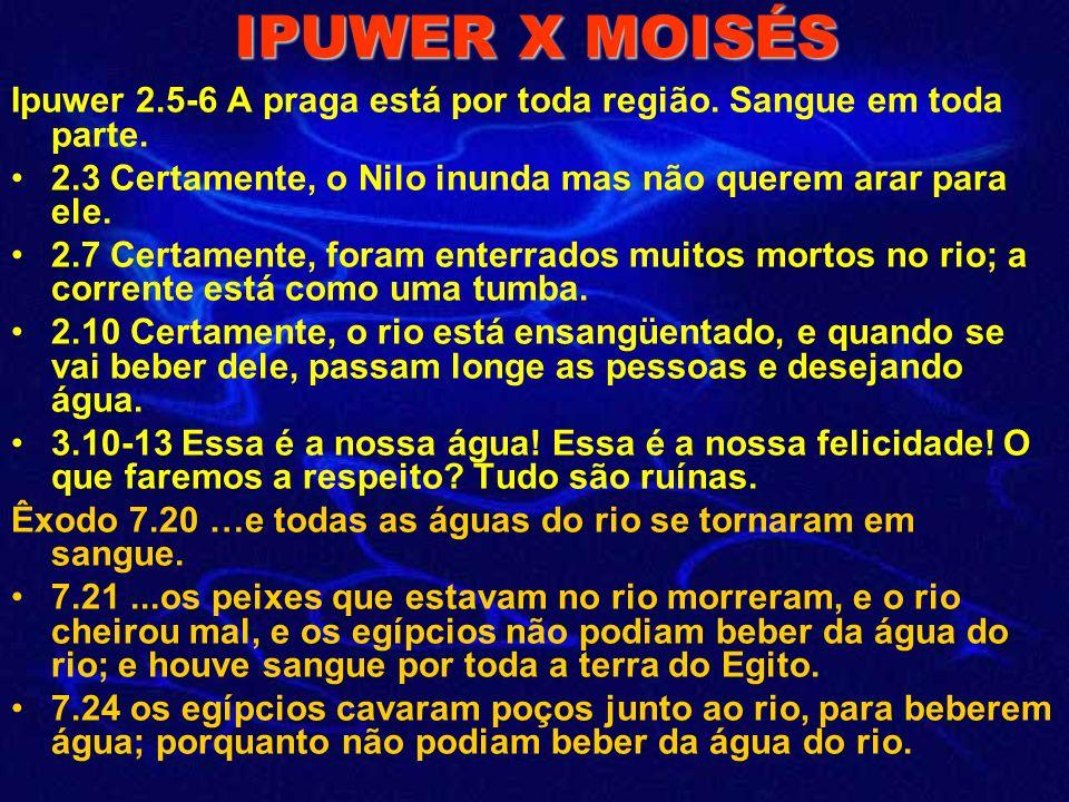 IPUWER X MOISÉS Ipuwer 2.5-6 A praga está por toda região.