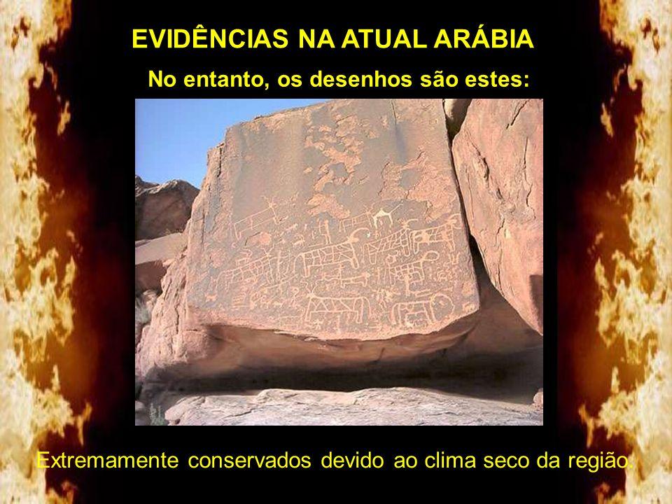 Nos montes deste local arqueólogos Sauditas escavaram cavernas como a da foto abaixo. Informaram ao explorador Bob Cornuke que encontraram escrituras