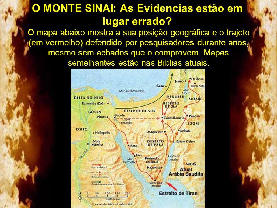 O MONTE SINAI A nomeação do tradicional Monte Sinai no Egito surgiu quando o Imperador Justiniano edificou o Monastério de Santa Catarina no ano de 52