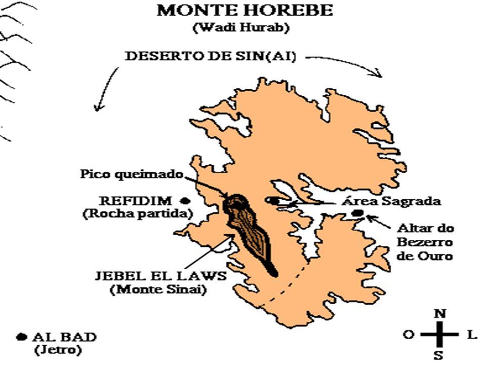 O (VERDADEIRO) MONTE SINAI O local é até hoje conhecido como Horebe (Wadi Hurab)!