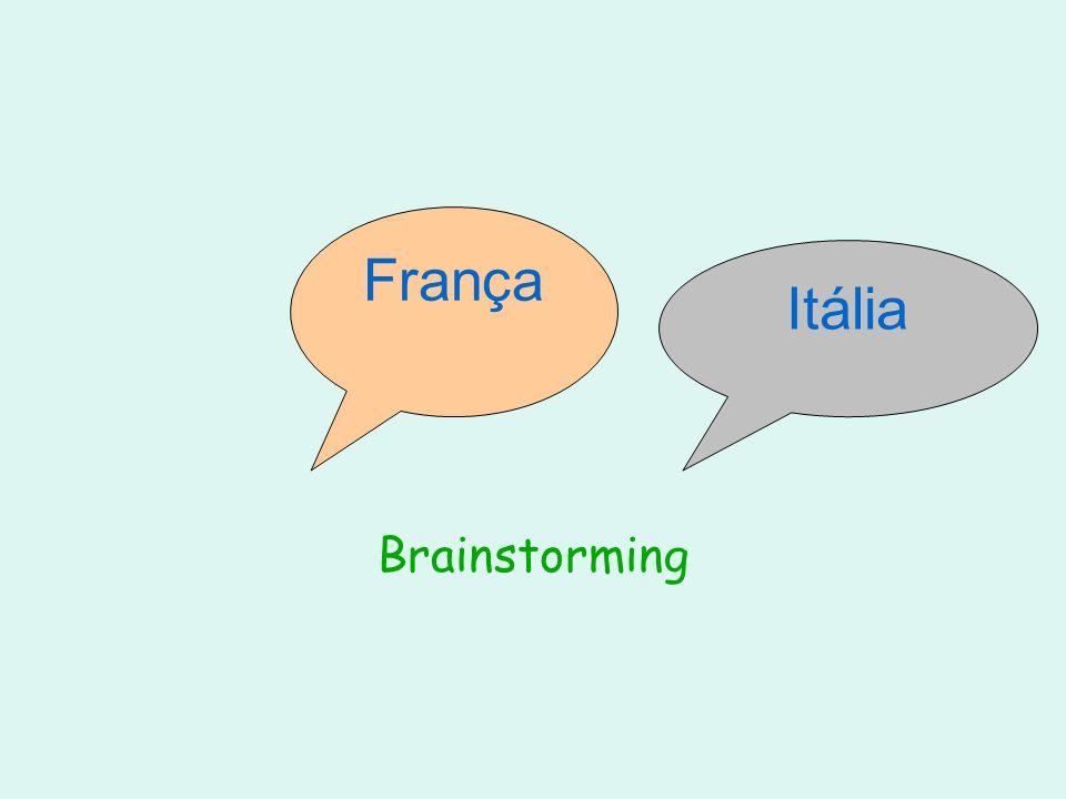 Quando pensamos em França ou Itália, pensamos em quê....