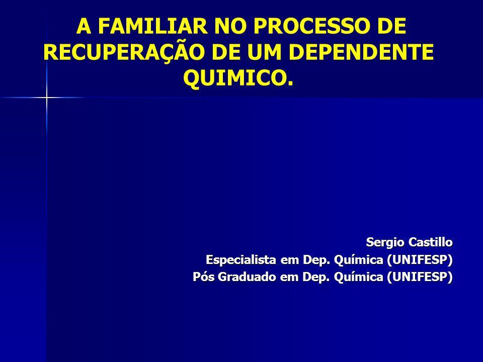 Sergio Castillo Especialista em Dep.Química (UNIFESP) Pós Graduado em Dep.
