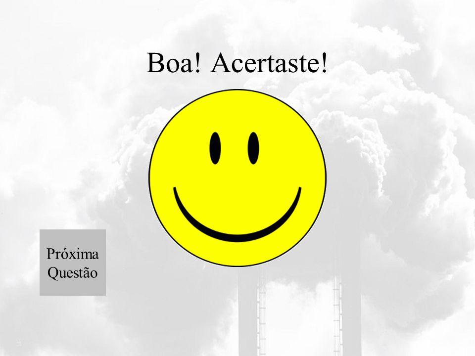 Jogo interactivo Quais as consequências da poluição para a saúde? A Poluição faz bem á saúde Provoca doenças respiratórias Ambas estão erradas a) b) c