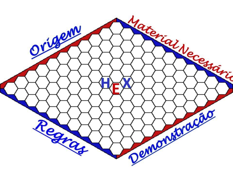 O Hex foi um jogo introduzido pelo Matemático Piet Hein (Dinamarquês), apresentado pela primeira vez no Instituto Niels Bohr em 1942 Foi (re-)inventado independentemente em 1947 pelo Matemático John Nash Foi distribuído comercialmente em 1952 pelos Parker Brothers Pode ser reconhecido pelos nomes: CON-TAC-TIX – Nome atribuído por Piet Hein Polygon – Nome pelo qual ficou conhecido na Dinamarca John ou Nash – por aqueles introduzidos ao jogo por John Nash Hex – Nome mais comum, adoptado após a comercialização de 1952 É definido como um jogo de conexão, do mesmo tipo do Omni, Y ou Go.