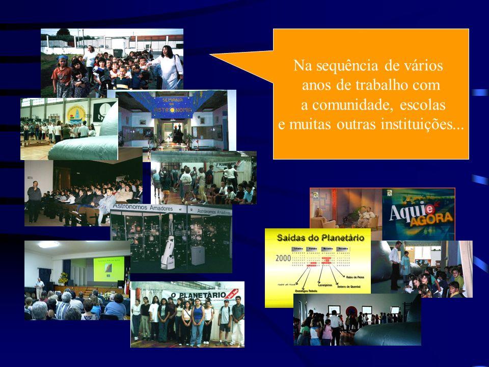 Na sequência de vários anos de trabalho com a comunidade, escolas e muitas outras instituições...
