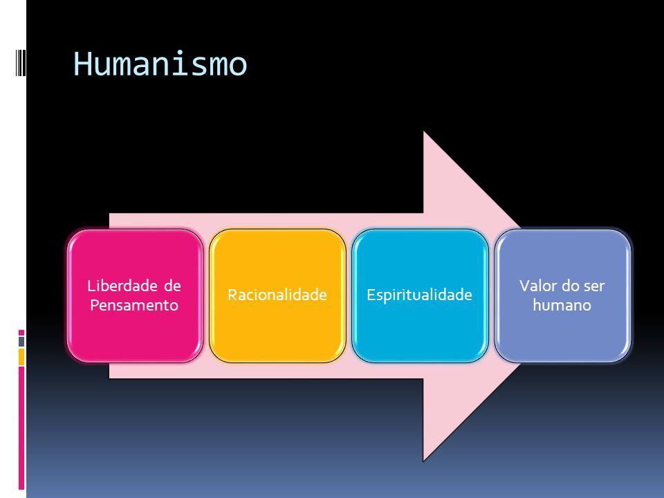 Humanismo Liberdade de Pensamento RacionalidadeEspiritualidade Valor do ser humano