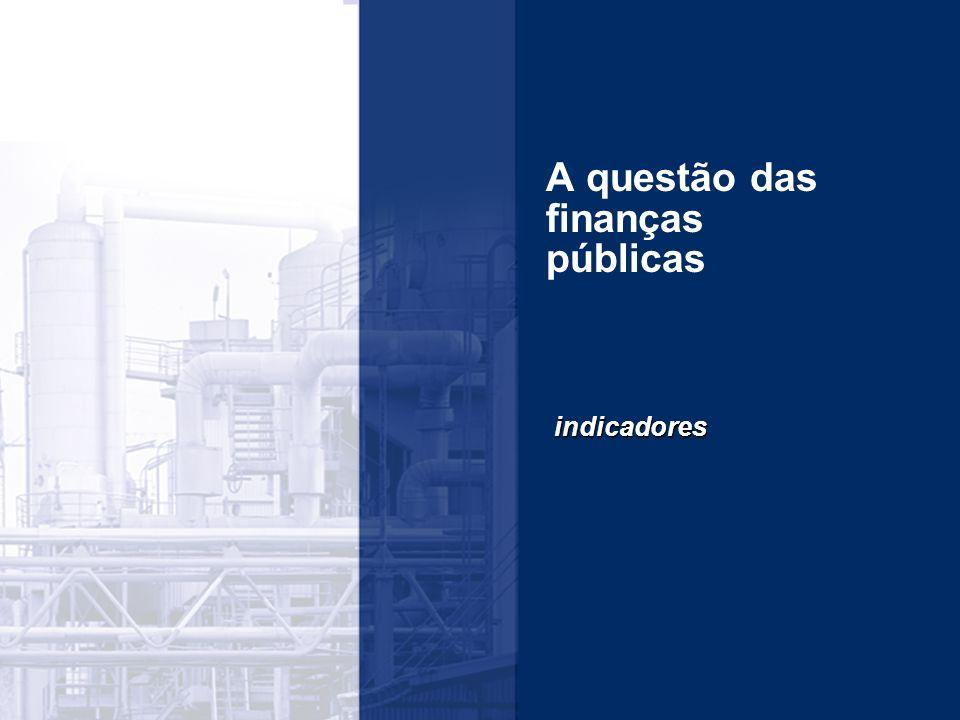 A questão das finanças públicas indicadores