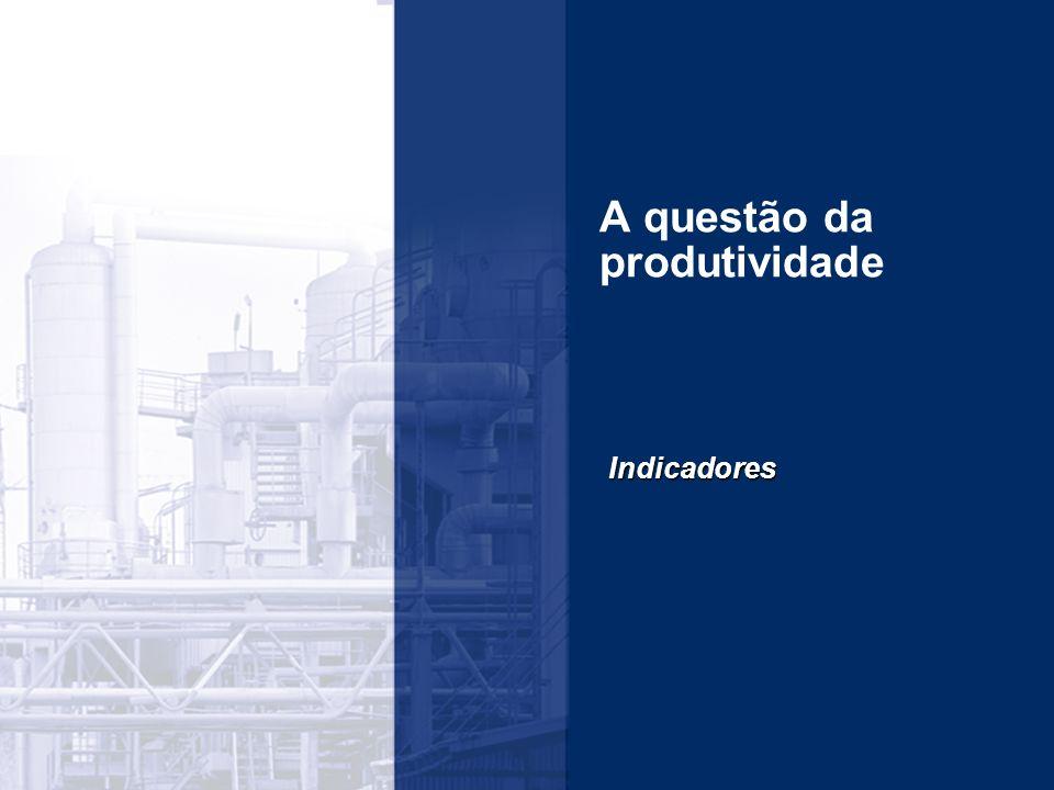 A questão da produtividade Indicadores