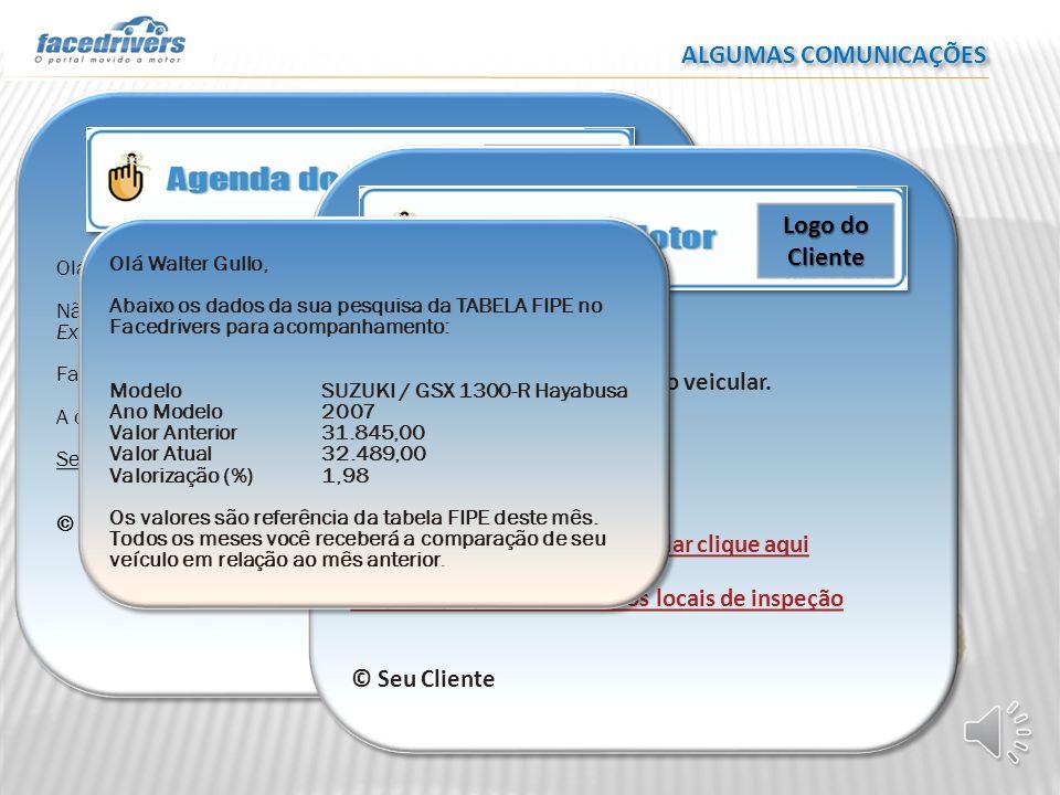 ALGUMAS COMUNICAÇÕES Olá Josiel Denardi Não esqueça do pagamento da parcela do seguro do C3 Picasso Exclusive 1.6 Flex 16V 5p Aut.. Faltam 10 dias. A