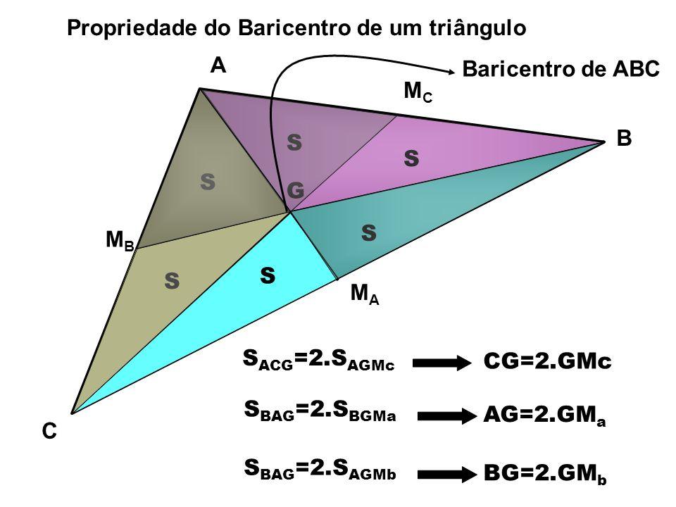 O triângulo ABC da figura tem área 132 cm 2.