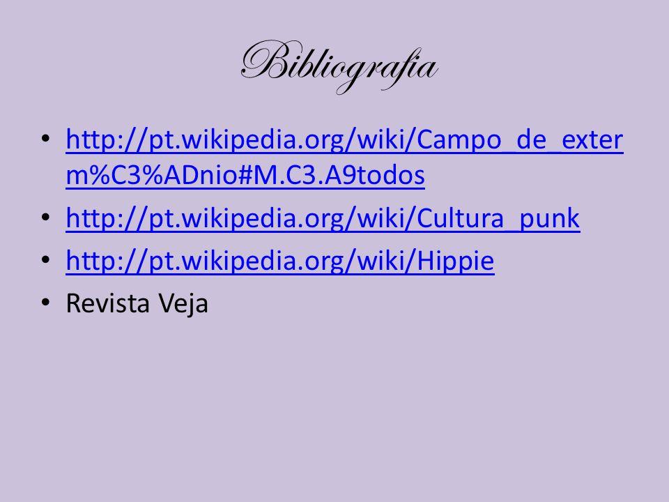 Bibliografia http://pt.wikipedia.org/wiki/Campo_de_exter m%C3%ADnio#M.C3.A9todos http://pt.wikipedia.org/wiki/Campo_de_exter m%C3%ADnio#M.C3.A9todos h