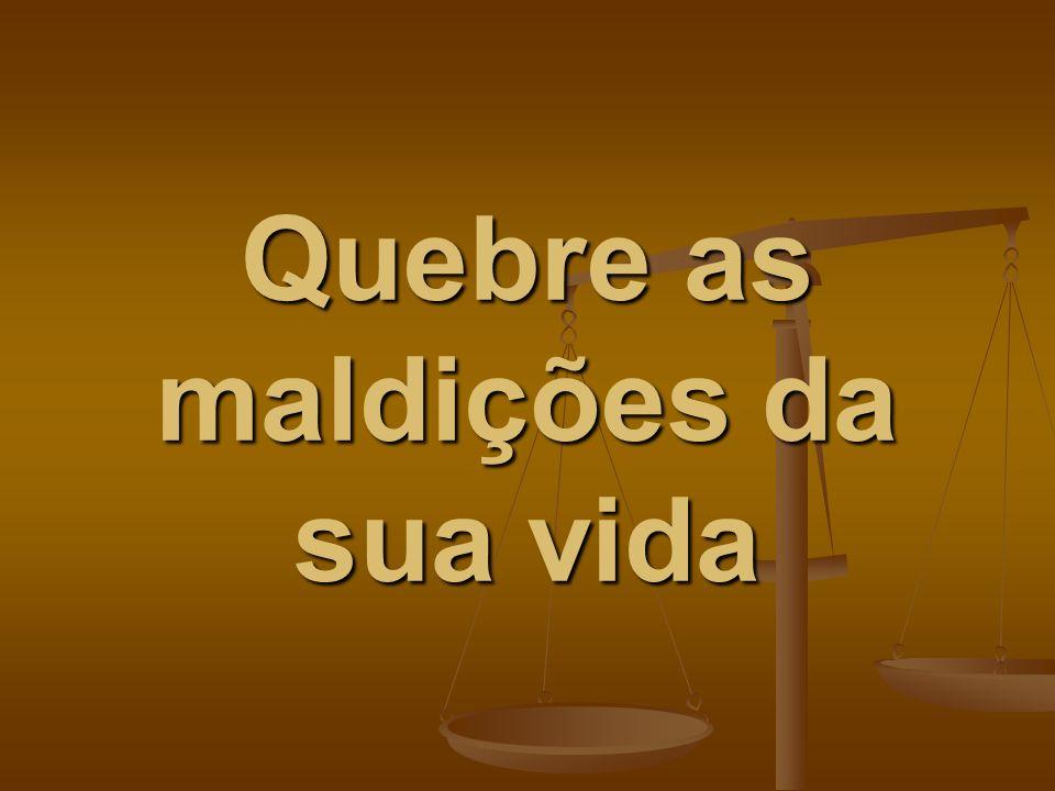 Texto: Pv.3:33: A maldição do SENHOR habita na casa do ímpio, mas a habitação dos justos abençoará.