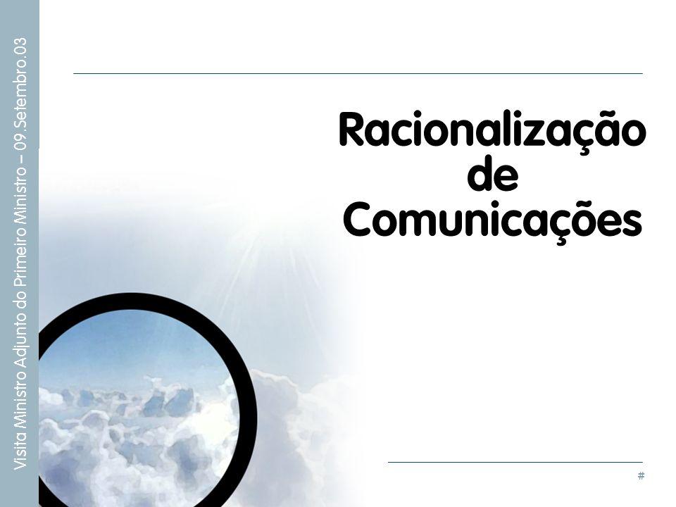 # Visita Ministro Adjunto do Primeiro Ministro – 09.Setembro.03 Racionalização de Comunicações