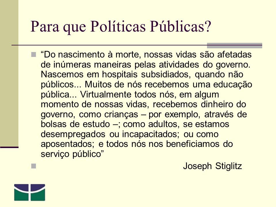 Para que Políticas Públicas.