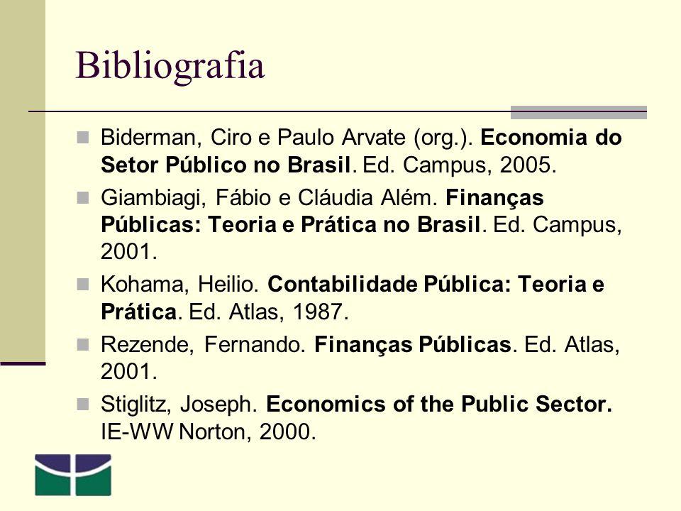 Bibliografia Biderman, Ciro e Paulo Arvate (org.).