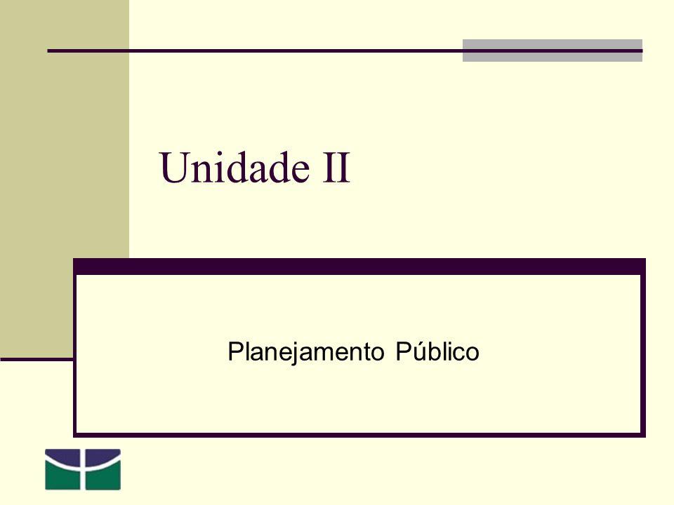 Unidade II Planejamento Público